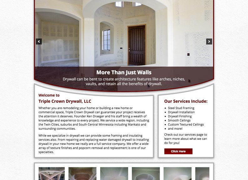 Triple Crown Drywall - Sunpoint Web Design